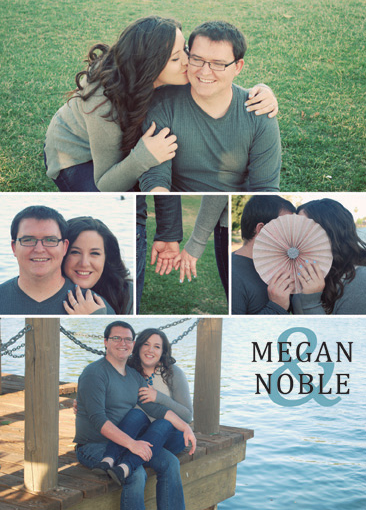 Megan and Noble Back Wedding Invites