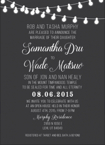 Samantha and Wade Front Wedding Invitations