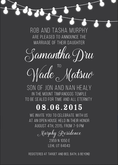 Samantha and Wade Front Wedding Invitations