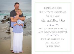 Jodi and Brady Front Wedding Invitations