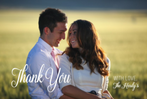 Samantha and Wade THC Front Wedding Announcements