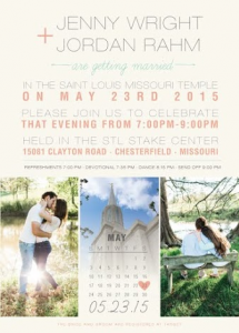 Jenny and Jordan Front Wedding Invitations