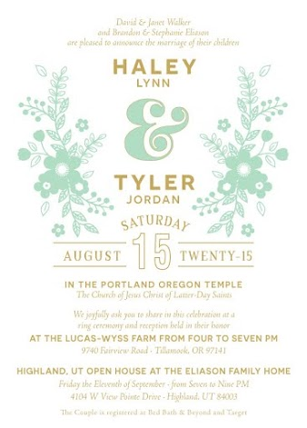 Tyler and Haley Front Wedding Invitations