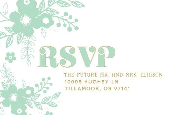 Tyler and Haley RSVP front Wedding Invitations