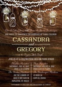 Cassandra and Gregory Front Wedding Invitations