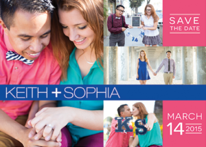 Keith and Sophia Save the Date