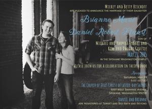 Brianne and Daniel Front Wedding Invitations