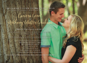 Carissa and Anthony Front Wedding Invitations