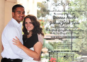 Danissa and Joshua Front Wedding Invitations