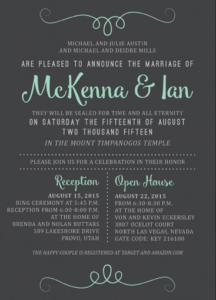 McKenna and Ian Front Wedding Invitations