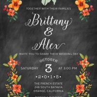 WEDDING INVITATION 5x7 (vertical)