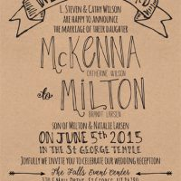 McKenna Wilson Front Wedding Invitations