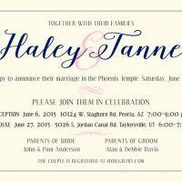 Hailey & Tanner wedding-05 Wedding Invitations