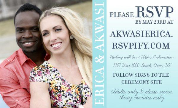 Erica Portfolio rsvp 2 Wedding Invitations
