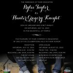 Rylee and Hunter- 5x7 front Wedding Invitations