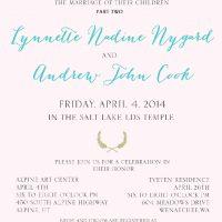 Lynette 5x7 front Wedding Invitations