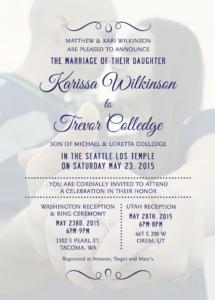 Karissa-back-FINAL Wedding Announcements
