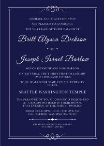 Britt-Dickson-Invite-Front Wedding Invitations