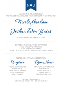 Nicole-Josh-announcement-front Wedding Announcements