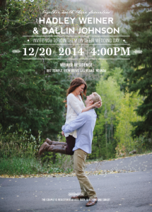 Hadley-Dallin-Announcement-front Wedding Invitations