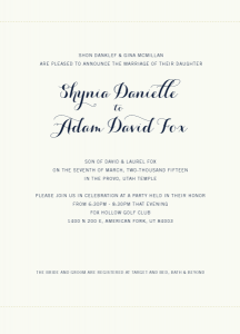 Danielle-Adam-announcement-front Wedding ANNOUNCEMENT