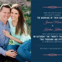 Jenessa Choate Front Wedding Invitations