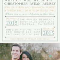 Whitney Wilson Back Wedding Invitations