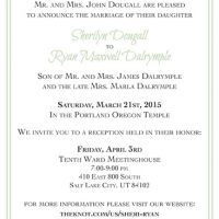 Sheri Dougall Front Wedding Invitations