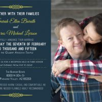 Sarah Barath Back Wedding Invitations