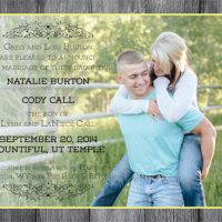 Natalie Burton Front Wedding Announcements