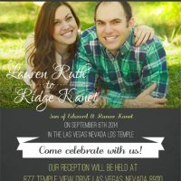 Lauren Thomas Front Wedding Invitations