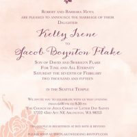 Kelly Moya Front Wedding Invitations