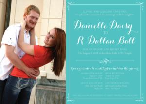 DanielleGneiting_front Wedding Invitations