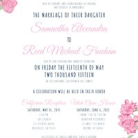 Samantha De Ferrari Front Wedding Invitations