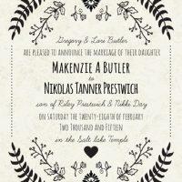 Makenzie Butler Back Wedding Invitations