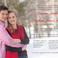Lauren Durnford Front Wedding Invitations