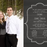 Chenae Raymond Back Wedding Invites