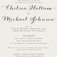Chelsea Hallam Front Wedding Invitations