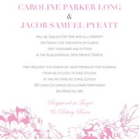 Caroline Long Front Wedding invitations