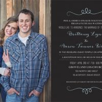 Brittany Spraker Back Wedding invites