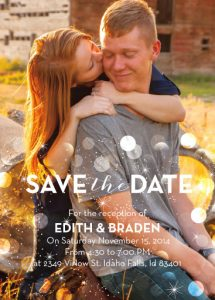 Edith & Braden - Utah Announcements