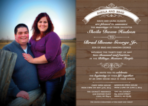Sheila & Brad Wedding Invitations