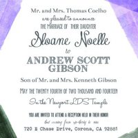 Sloane & Andrew Front Wedding Invitations