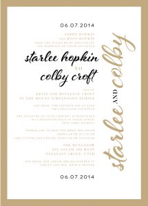starlee_front Wedding Announcements