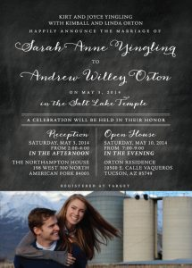 sarahY-front Wedding Announcements