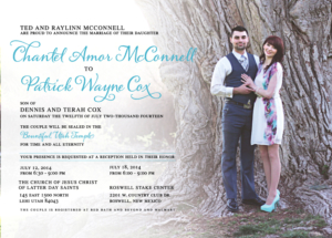 chantelm_front Wedding Invitations