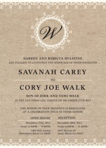 savanah_front Wedding invitations