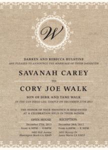 savanah_front Wedding invitations