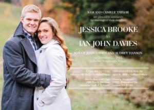 jessica_front Wedding invites