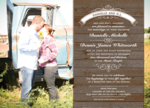 danielle_front Wedding Invitations